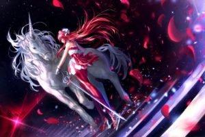 anime girls, Anime, Unicorns, Pretty Rhythm: Rainbow Live, Renjouji Bell, Flower petals