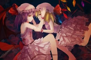 Touhou, Flandre Scarlet, Remilia Scarlet, Anime girls, Wings