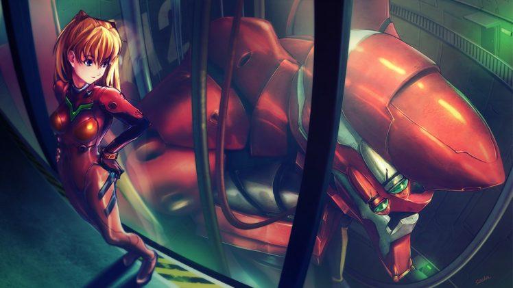 Asuka Langley Soryu, Neon Genesis Evangelion, Anime girls, EVA Unit 02 HD Wallpaper Desktop Background