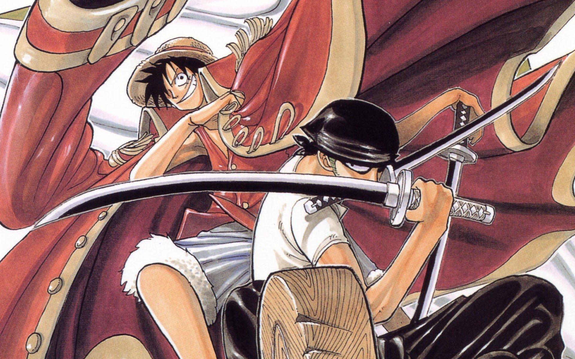 One Piece, Roronoa Zoro, Monkey D. Luffy Wallpaper