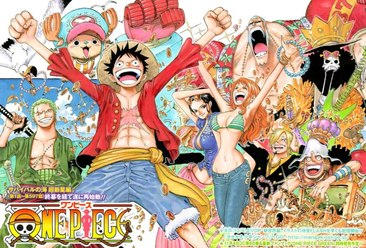 One Piece, Monkey D. Luffy, Brook, Nami, Sanji, Tony Tony Chopper, Roronoa Zoro, Straw Hat Pirates HD Wallpaper Desktop Background