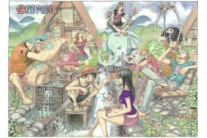 One Piece, Monkey D. Luffy, Nico Robin, Roronoa Zoro, Sanji, Brook, Usopp, Nami, Tony Tony Chopper, Franky