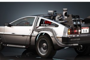 DMC DeLorean, DeLorean, Back to the Future, Car, Dual monitors, Multiple display