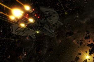 Starpoint Gemini Warlords, Spaceship, Science fiction, Space, Video games, RPG, Universe, Digital art, Corvette, LGM Games