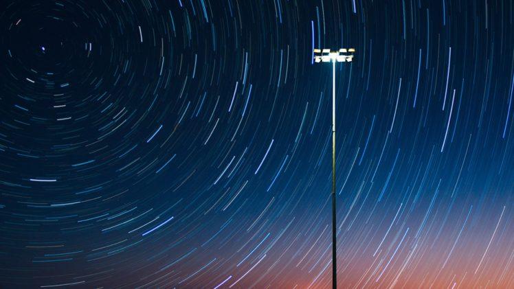 Stars Lights Night Sky Long Exposure Sky Hd Wallpapers Desktop