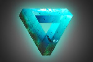 soft gradient, Triangle, Glowing, Fish, Photoshop, Whale, Penrose triangle, Underwater