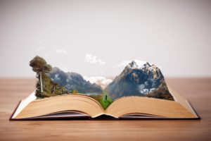 books, Mountains, Photoshop, Imagination, Peaceful