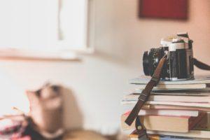 camera, Books, Literature