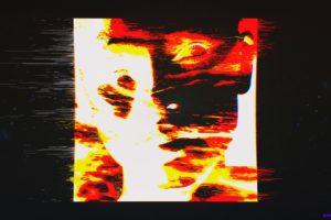 face, Glitch art, Dark, Abstract, Fire, Space, Minimalism