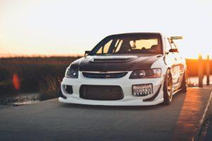 car, Vehicle, Mitsubishi Lancer, Sunset