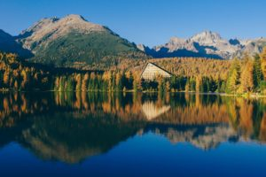 lake, Mountains, Water, Sky