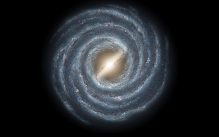 space, Galaxy, Spiral galaxy HD Wallpaper Desktop Background