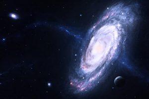 space, Galaxy, Spiral galaxy