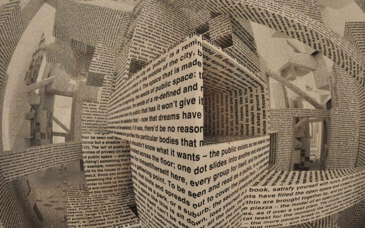 abstract, Artwork, Text, Maze, 3D HD Wallpaper Desktop Background