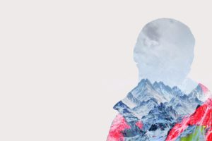 snowboards, Mountain pass, Landscape, Sports, Double exposure