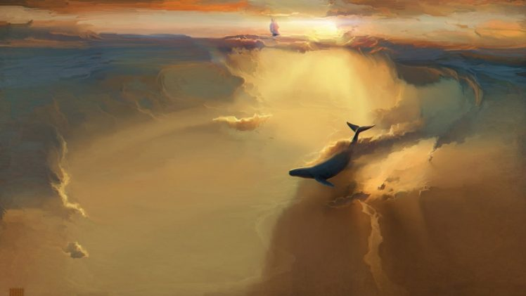 Whale Abstract Hd Wallpapers Desktop And Mobile Images