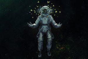 astronaut, Butterfly
