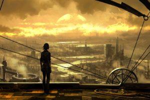 cityscape, Science fiction