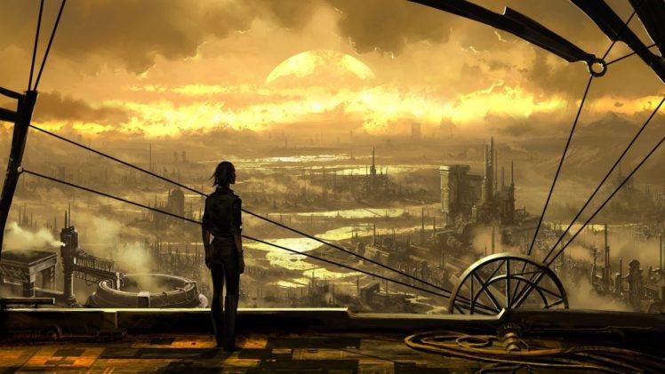 cityscape, Science fiction HD Wallpaper Desktop Background
