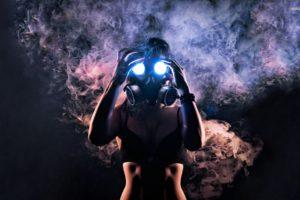 gas masks, Smoke