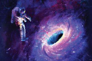 astronaut, Universe, Black holes