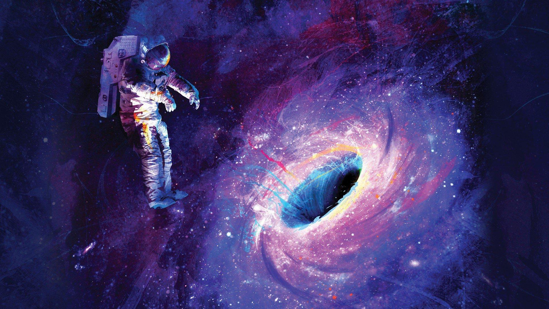 Astronaut Universe Black Holes Hd Wallpapers Desktop And Mobile Images Photos