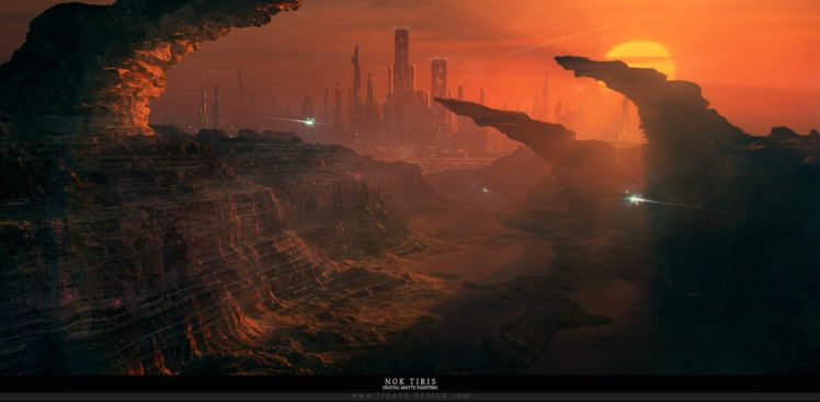 science fiction, Cityscape HD Wallpaper Desktop Background
