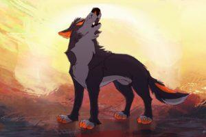 feral, Animals, Wolf
