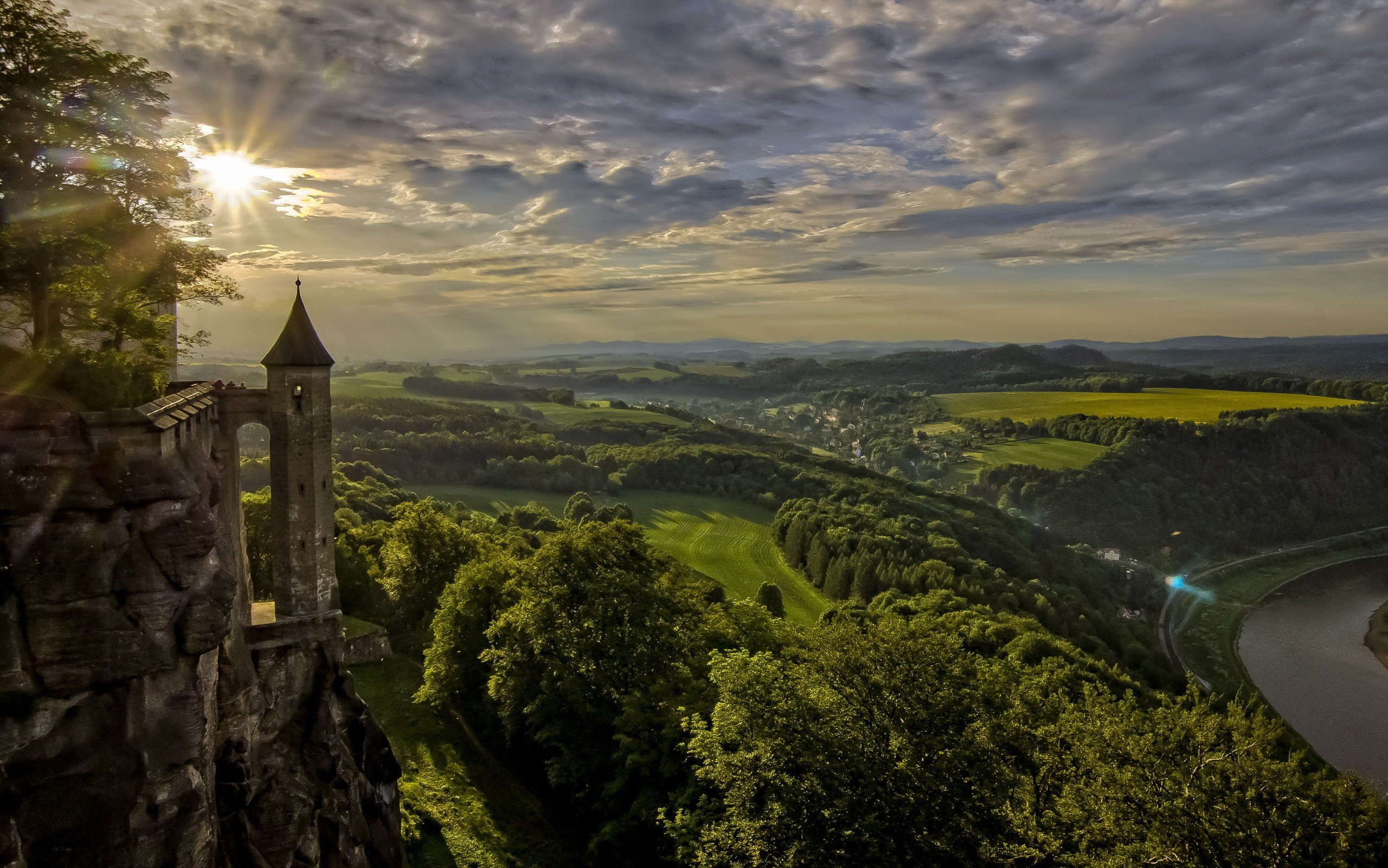 Architecture Castle Ancient Tower River Switzerland