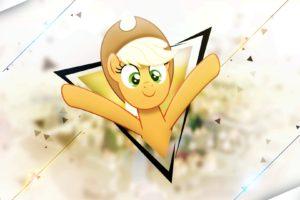 Applejack, My Little Pony, Triangle, Shapes