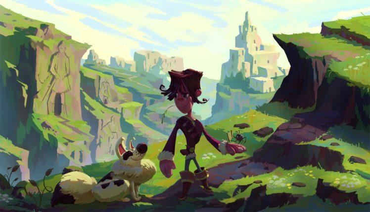 fantasy art, Landscape, Illustration HD Wallpaper Desktop Background