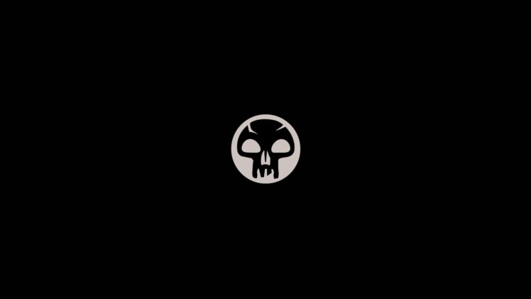 Magic: The Gathering, Trading Card Games, Simple, Minimalism, Black background, Skull HD Wallpaper Desktop Background