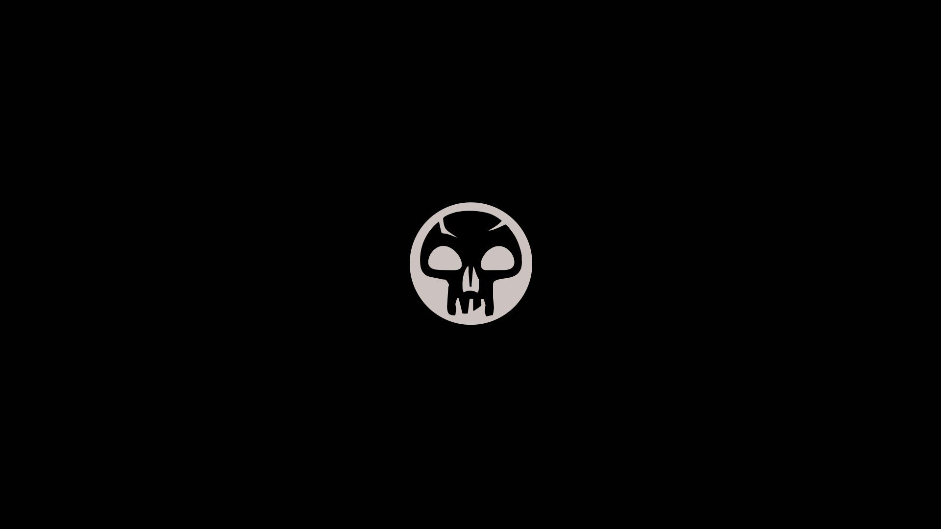 Magic The Gathering Trading Card Games Simple Minimalism Black Background Skull Hd Wallpapers Desktop And Mobile Images Photos