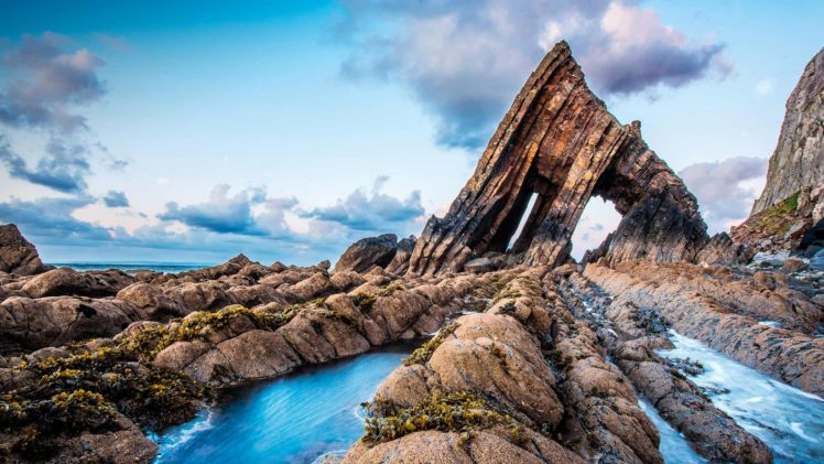 Blackchurch Rock, Rock, Sky, Clouds, Nature HD Wallpaper Desktop Background