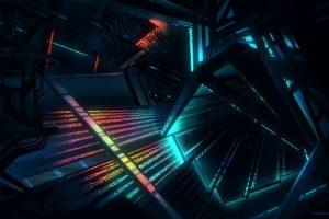 architecture, Glowing, Futuristic