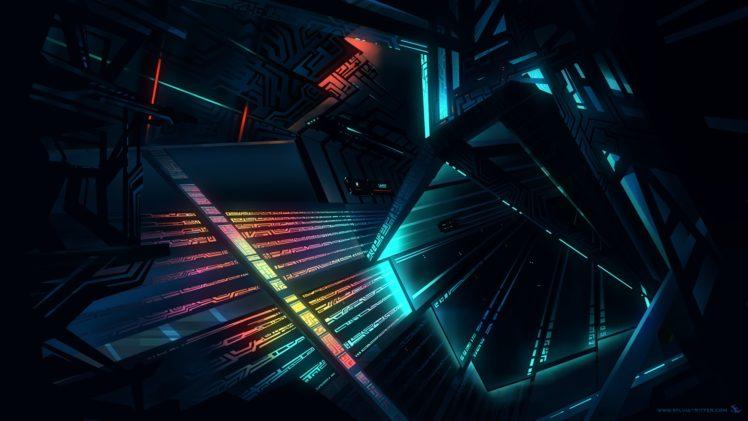 architecture, Glowing, Futuristic HD Wallpaper Desktop Background