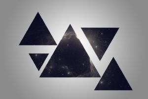 triangle, Space, Geometry, Galaxy