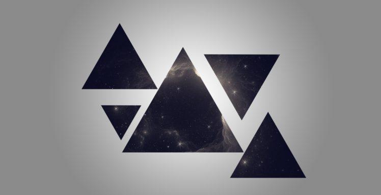 triangle, Space, Geometry, Galaxy HD Wallpaper Desktop Background