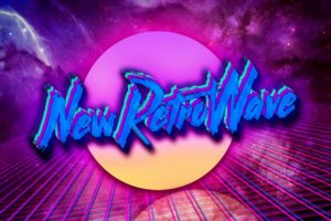 New Retro Wave, Neon, Space, 1980s, Synthwave, Digital art, Typography