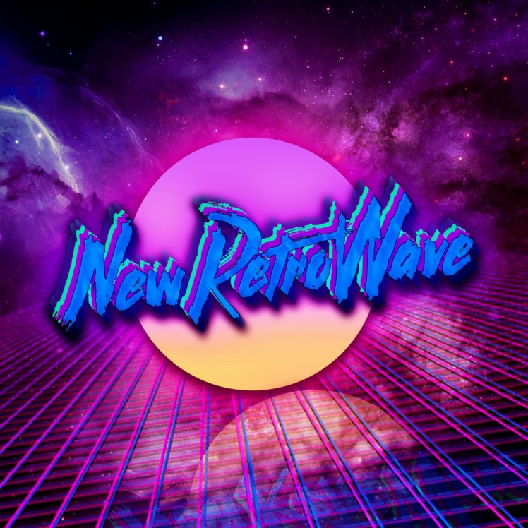 New Retro Wave Neon Space 1980s Synthwave Digital Art