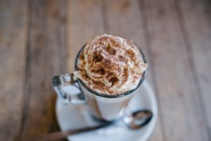 Hot Cocoa, ıce cream, Depth of field