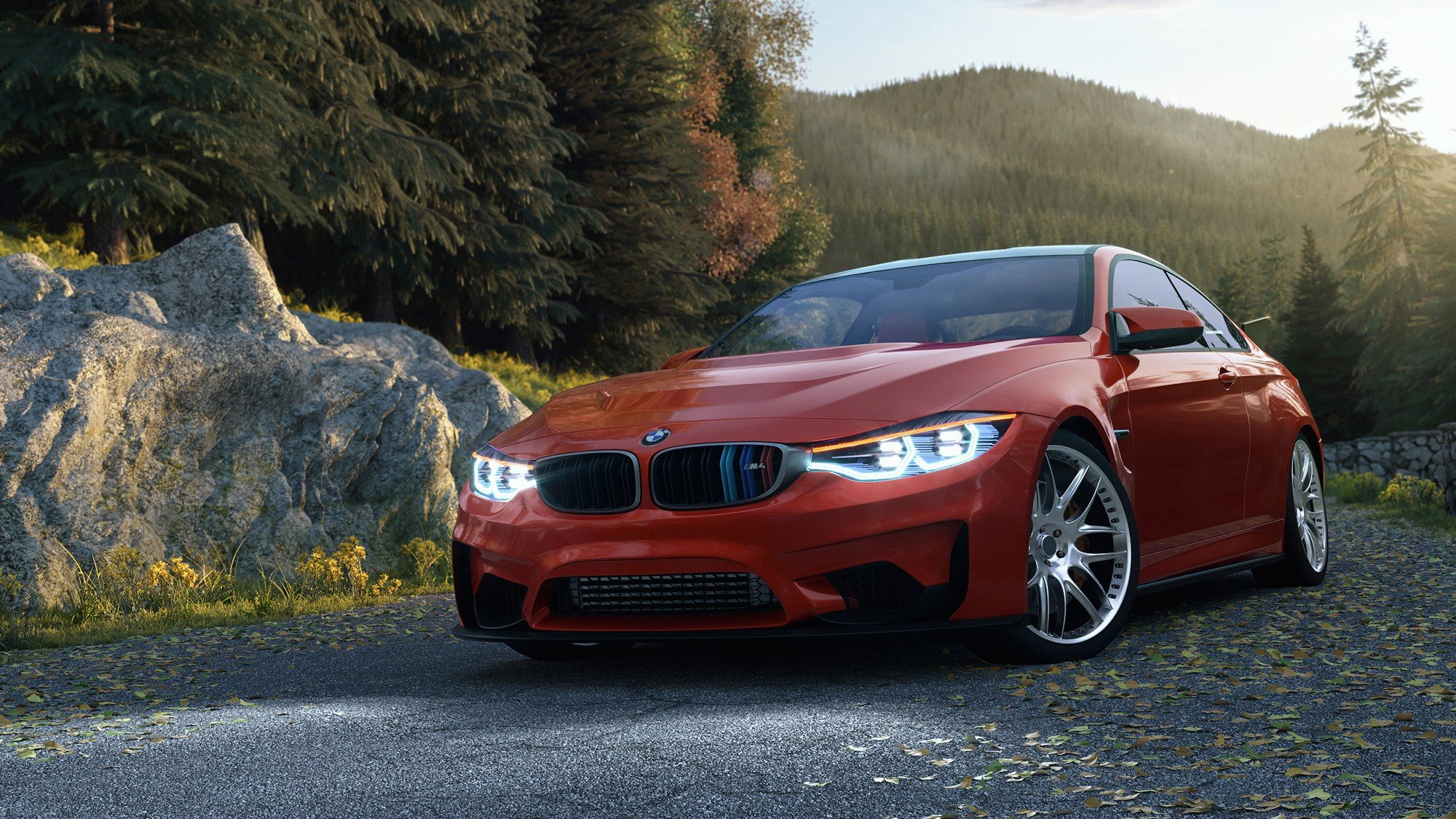 BMW M4 Coupe, Render, Corona render, Car HD Wallpapers ...