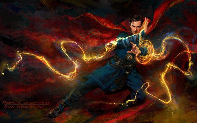 Benedict Cumberbatch, Doctor Strange, Marvel Comics, Marvel Cinematic Universe, Magic, Concept art HD Wallpaper Desktop Background