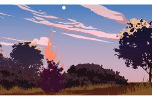 illustration, Sunset
