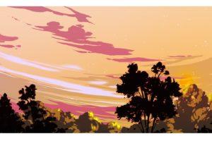 illustration, Sunset, Sky