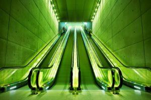 arch, Green, Escalator