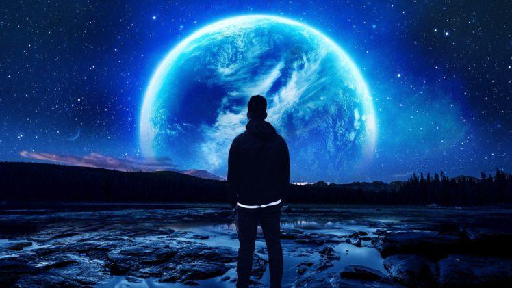 space, Planet, Night HD Wallpaper Desktop Background