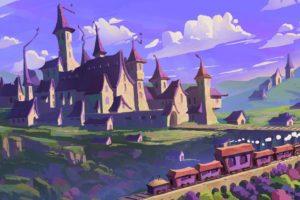 illustration, Fantasy art, Castle