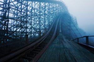 ruin, Abandoned, Spooky, Rollercoasters