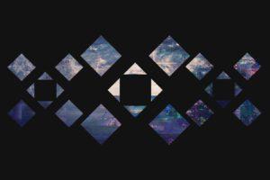 square, Pattern, Digital art, Glitch art